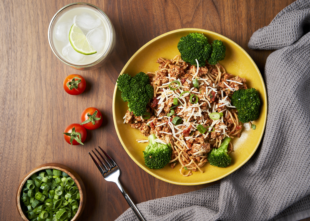 Whole Grain Pasta with Meat (Turkey) Sauce